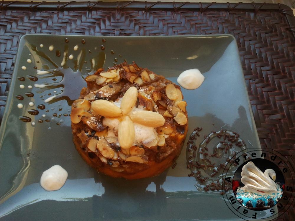 Clafoutis d'abricots pralinés aux amandes