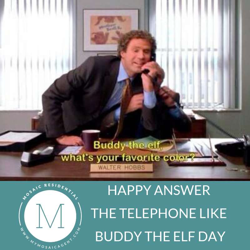 Answer The Telephone Like Buddy The Elf Day Wishes for Whatsapp