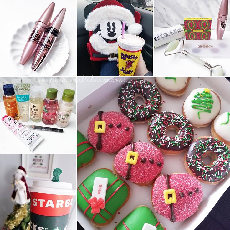 bblogger, bbloggers, bbloggerca, bbloggersca, canadian beauty bloggers, lifestyle blog, instamonth, instagram roundup, maybelline, lash sensational, mascara, booster juice, yves rocher, starbucks holiday, krispy kreme, holiday donuts