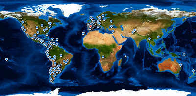 Mapa visitas, mundoporlibre.com, vuelta al mundo, round the world, La vuelta al mundo de Asun y Ricardo