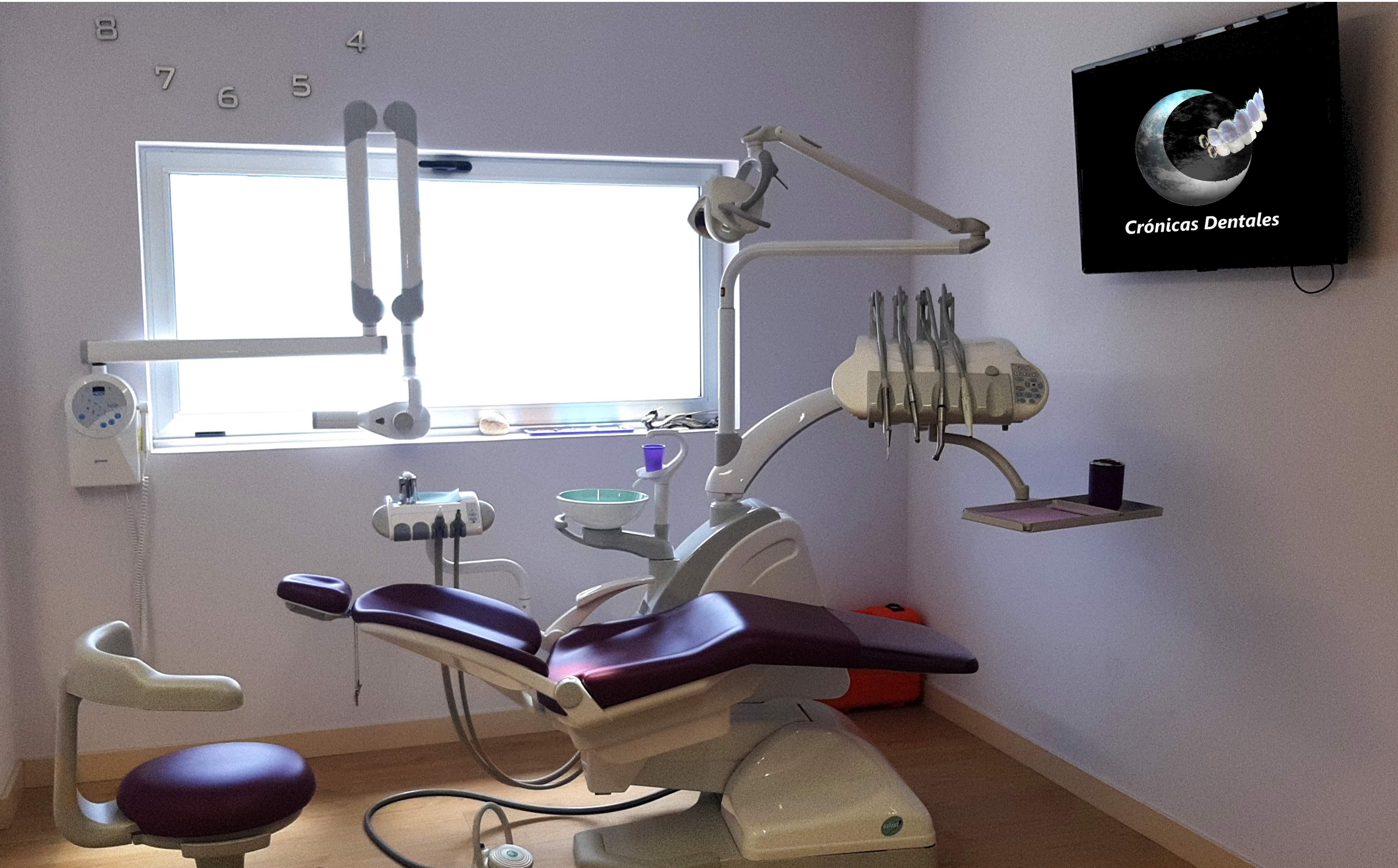 Desinfección en el área del sillón dental
