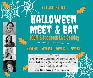 Halloween allergies treats food cooking