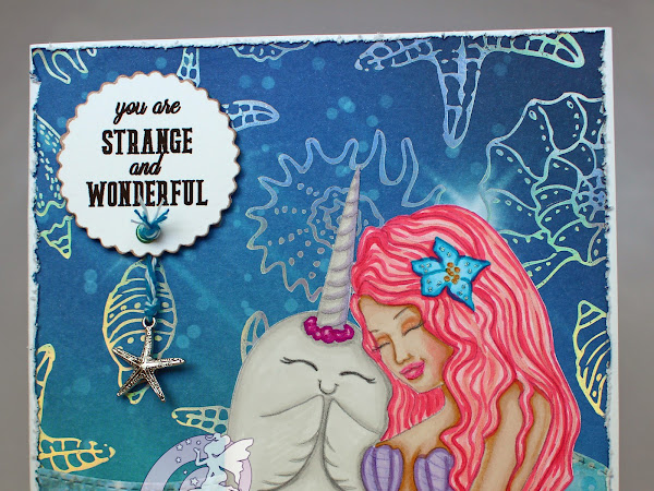 Layered Card featuring The Mermaid and the Narwhal