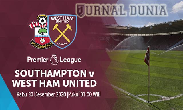 Prediksi Southampton Vs West Ham United, Rabu 30 Desember 2020 Pukul 01.00 WIB @ Mola TV