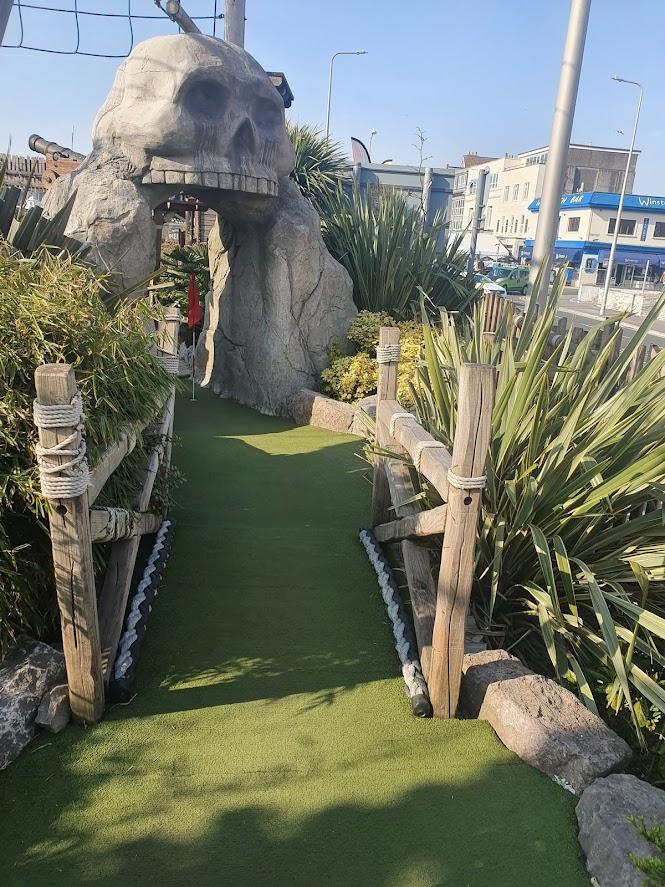 Pirate Adventureland Golf in Weston-super-Mare by Simon Brown, April 2021