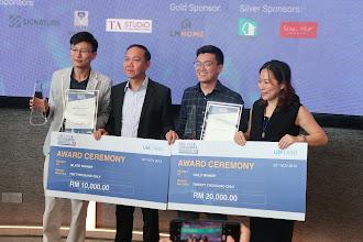 RM20,000 dibawa pulang oleh Lee Jun Yan sebagai Pemenang Emas Anugerah iLDA 2019