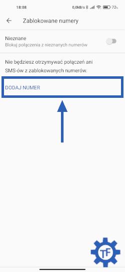 Zablokowane numery Telefon Google