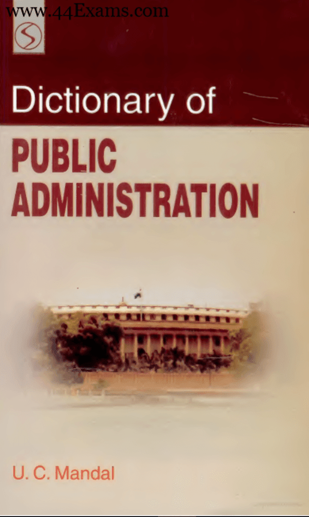 Dictionary-of-Public-Administration-by-UC-Mandal-PDF-Book
