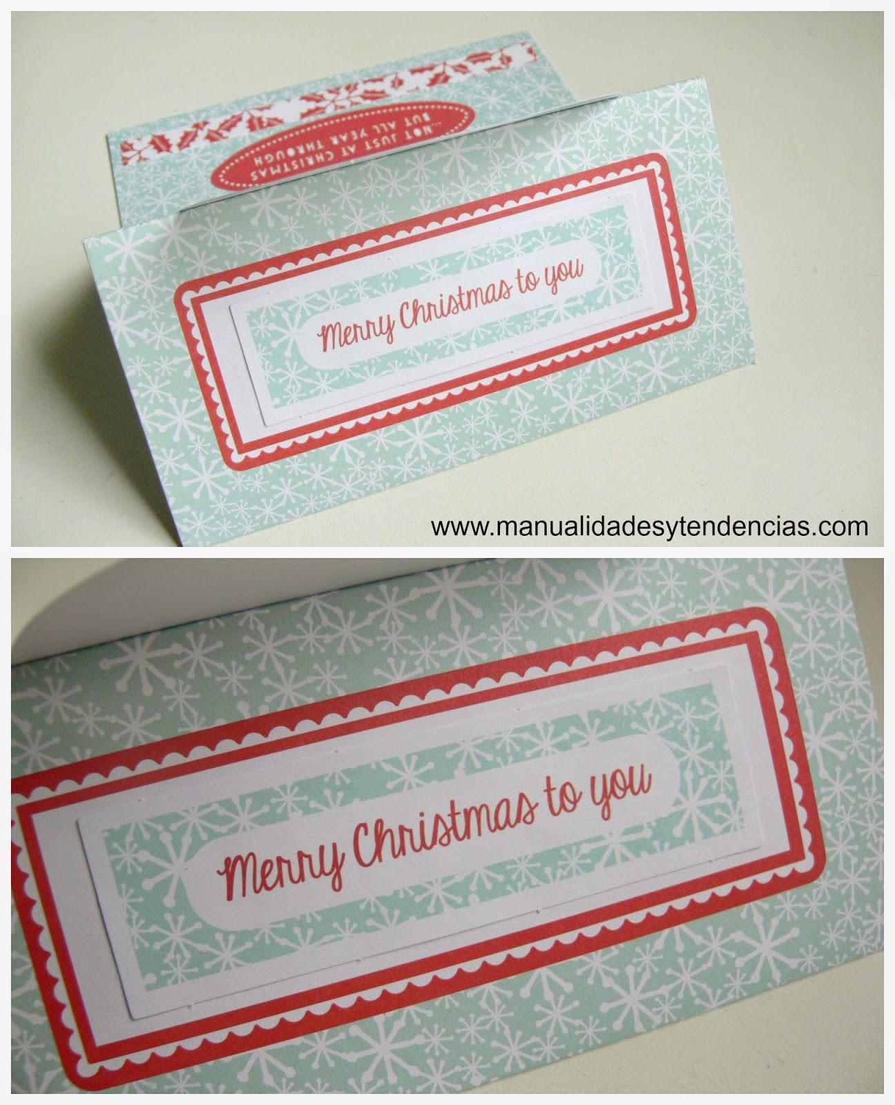 tarjeta navideña hecha a mano / handmade Christmas card