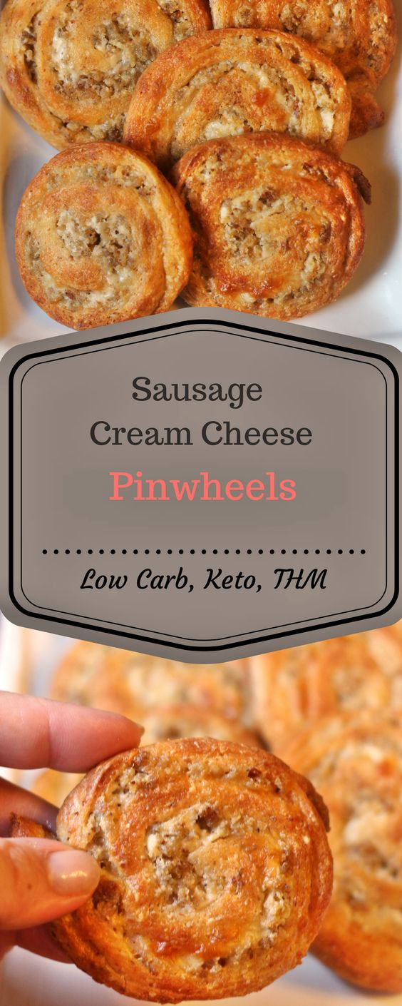 Low Carb Sausage Cream Cheese Pinwheels