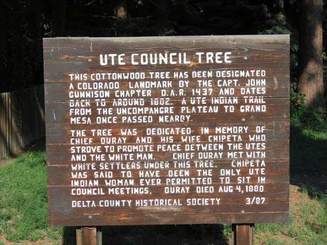 Ute Tree sign