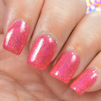 glitterdaze, s-urchin of love, holographic, linear, nail polish