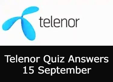 Today Telenor Quiz 15 September