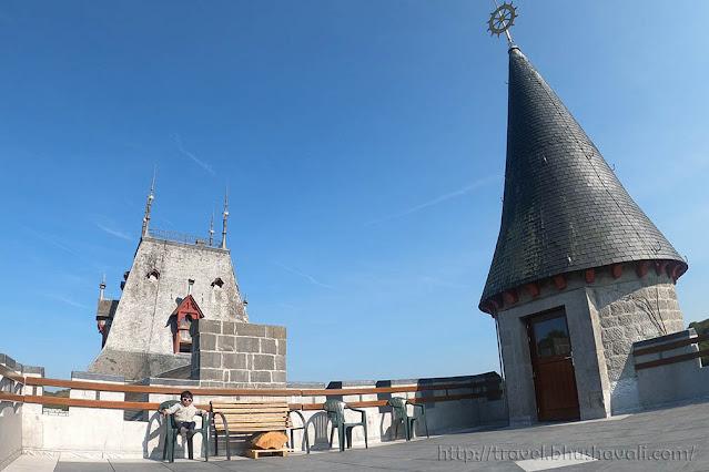 Chateau de Petite Somme view of Belgian Ardennes
