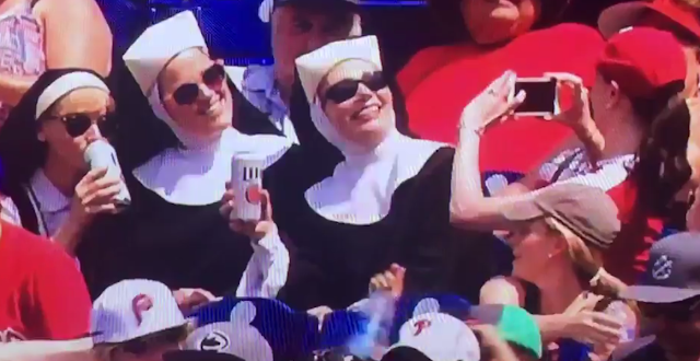 nuns at phillies game