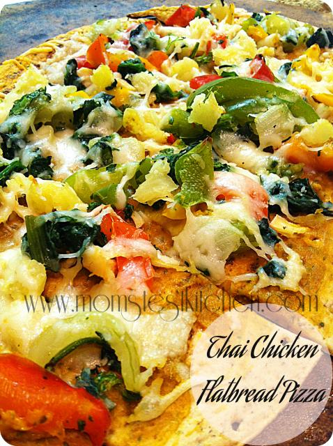 Thai Chicken Flatbread Pizza