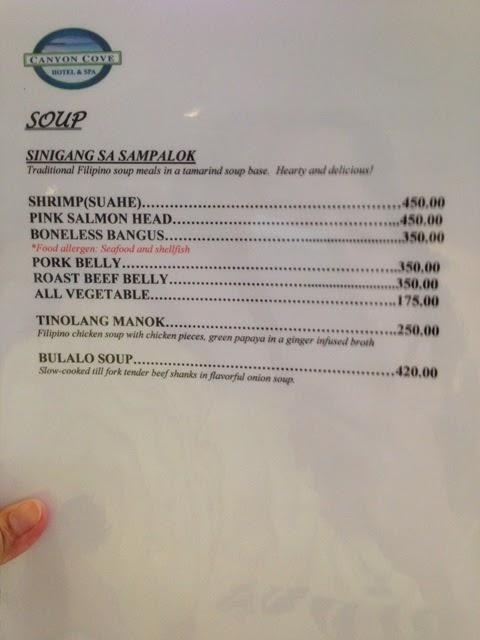 Cafe Peregrine Menu