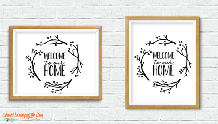 Welcome to Our Home Printable