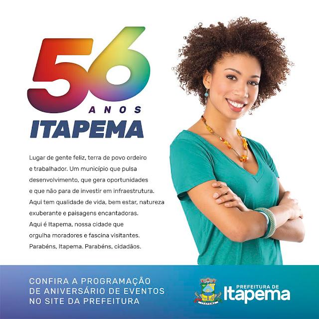 Itapema vai completar 56 anos