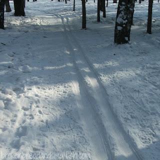 Ski tracks  (Spiritual disciplines - poem)