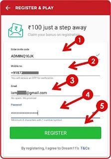 Register-on-Dream11