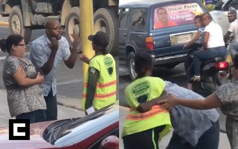 Video: Tipo que agredió a una agente de la DIGESETT pasará un mes 'guardado' en Najayo