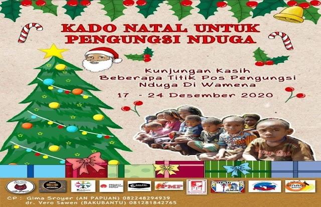 Komunitas Baku Bantu Melakukan Kegiatan Kado Natal Untuk Pengunsi Nduga