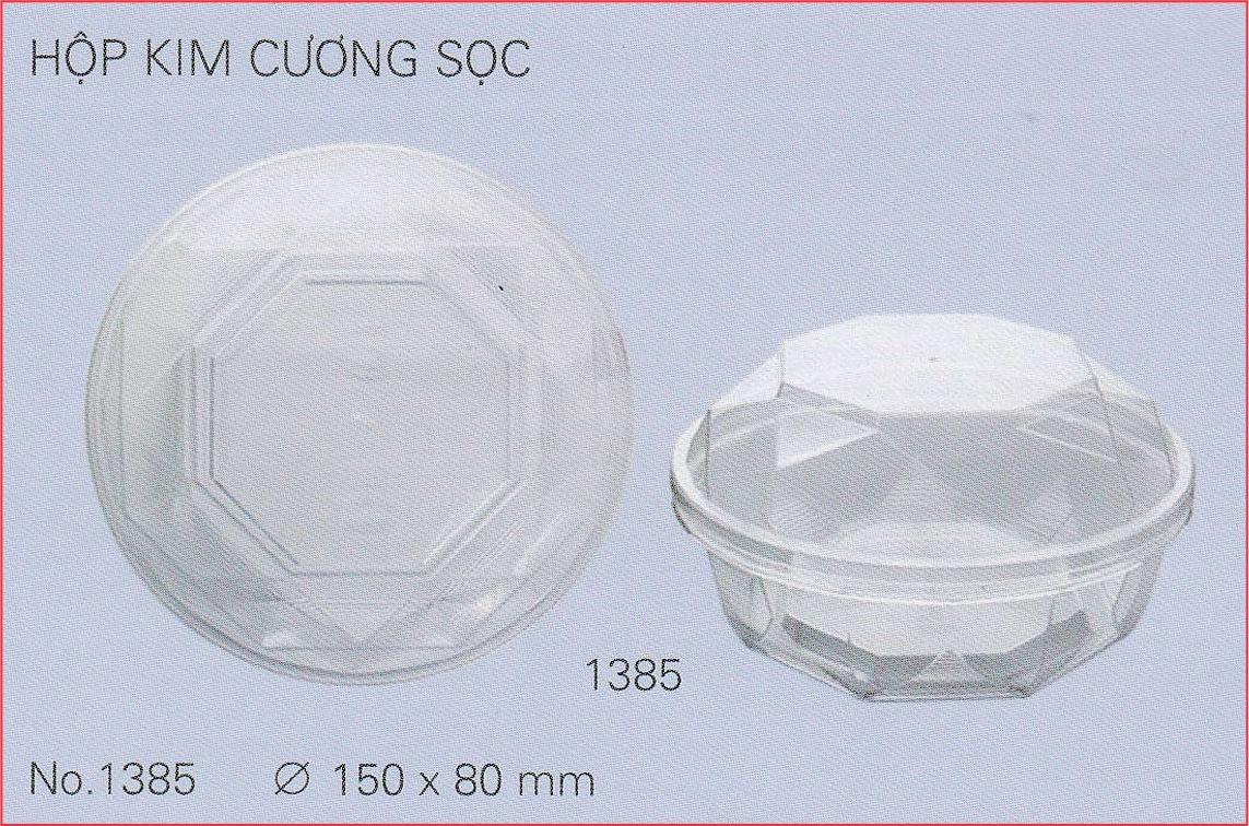 Hộp nhựa kim cương sọc