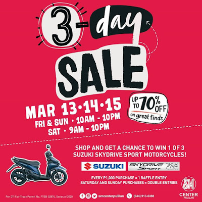 3-DAY SALE, WOMEN'S MONTH RULE THIS MARCH AT SM CENTER PULILAN