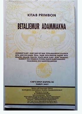 Buku Primbon Betljemur Addammakna