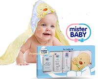 Logo Vinci gratis 30 Kit Mister Baby: accappatoio,acqua di colonia, crema e pasta protettiva