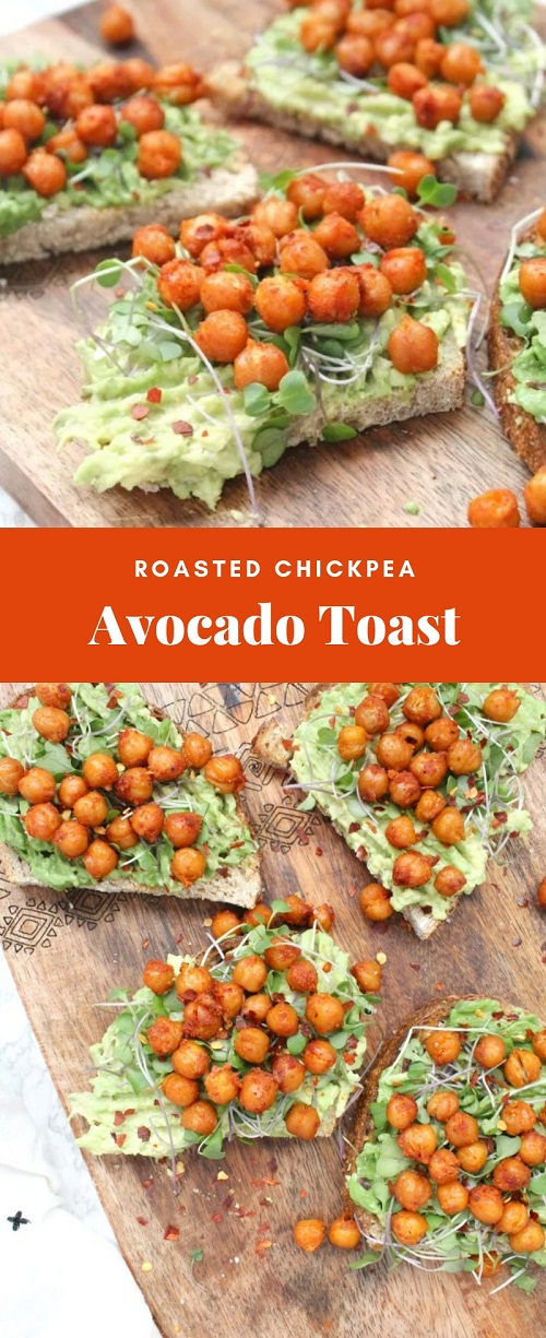 Roasted Chickpea Avocado Toast