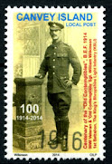 Canvey Local Post Somme 1916 Stamp