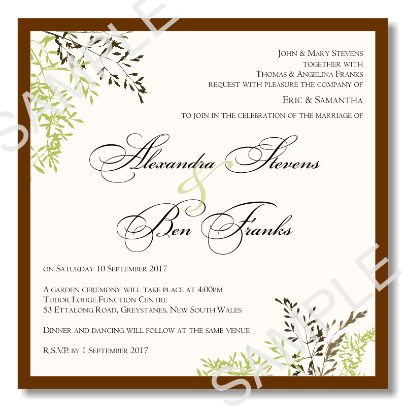 Wedding Invitation Templates: Fall Autumn Wedding Invitations: Fall Wedding Invitations