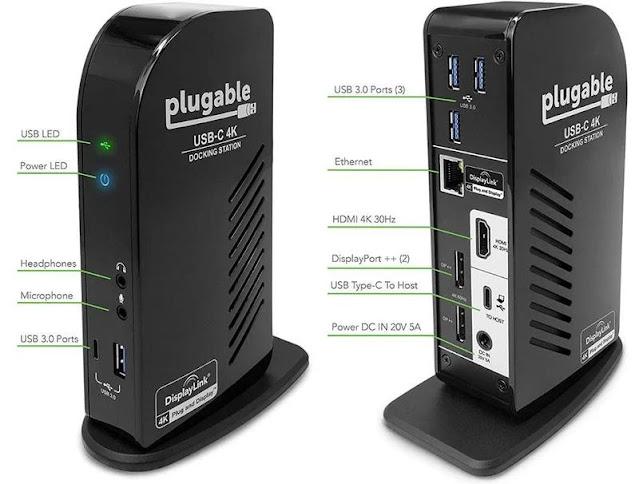 Plugable's USB-C Triple Display 4K Docking Station