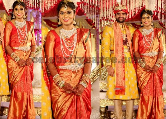 Bride Veena Wedding Saree
