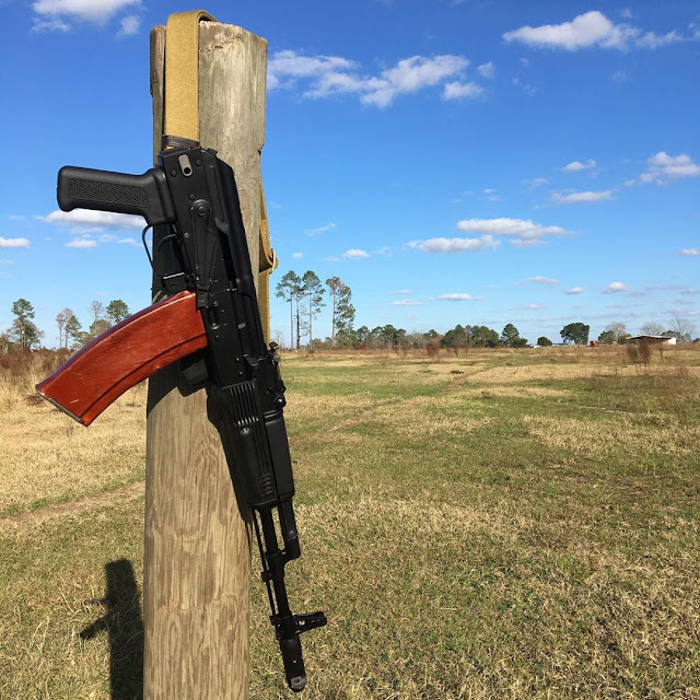 AK74-on-fence-post