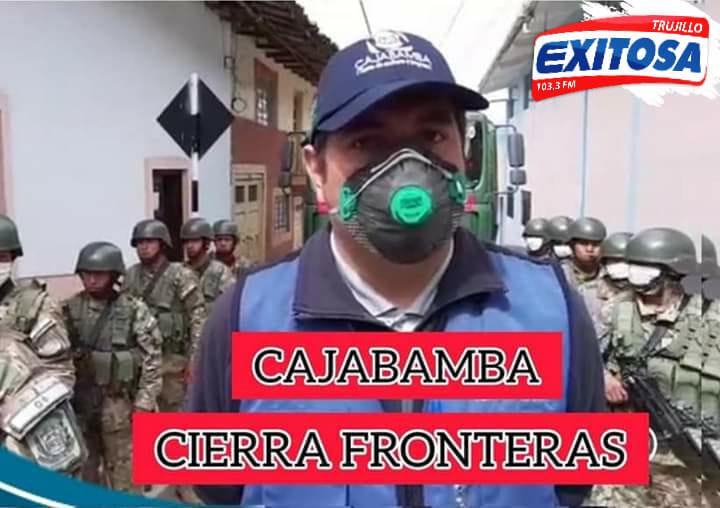 Cajabamba cierra sus fronteras