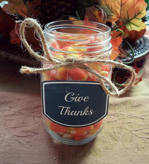 Give Thanks Mason Ball Jar
