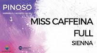 Concierto de Miss Caffeina, Full y Sienna en Pinoso