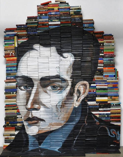 19-Mike-Stilkey-Books-used-as-Canvasses-for-Paintings-www-designstack-co