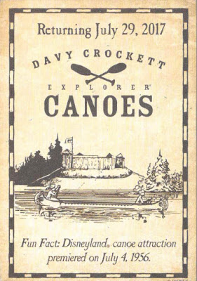 Davy Crockett Explorer Canoes Return Disneyland Trading Card