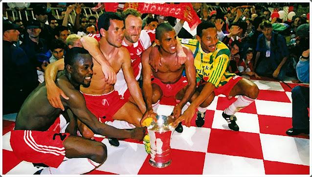 Monaco 1996-97 Ligue 1 Ikpeba Henry Anderson