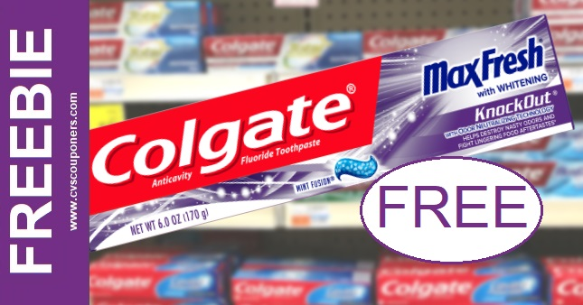 Free Colgate Max Toothpaste at CVS 2-7-2-13