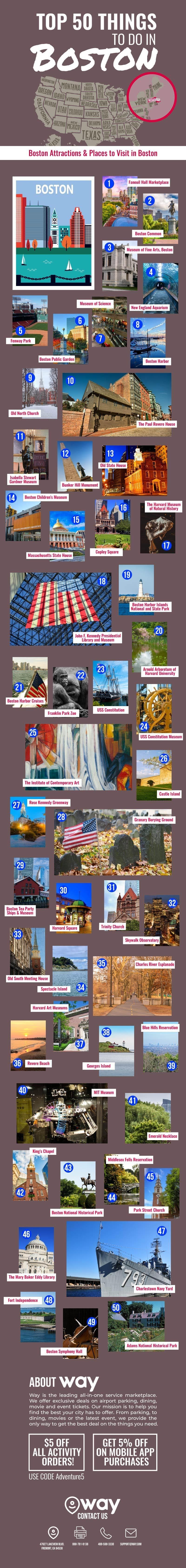 Top 50 Things to Do in Boston #infographic
