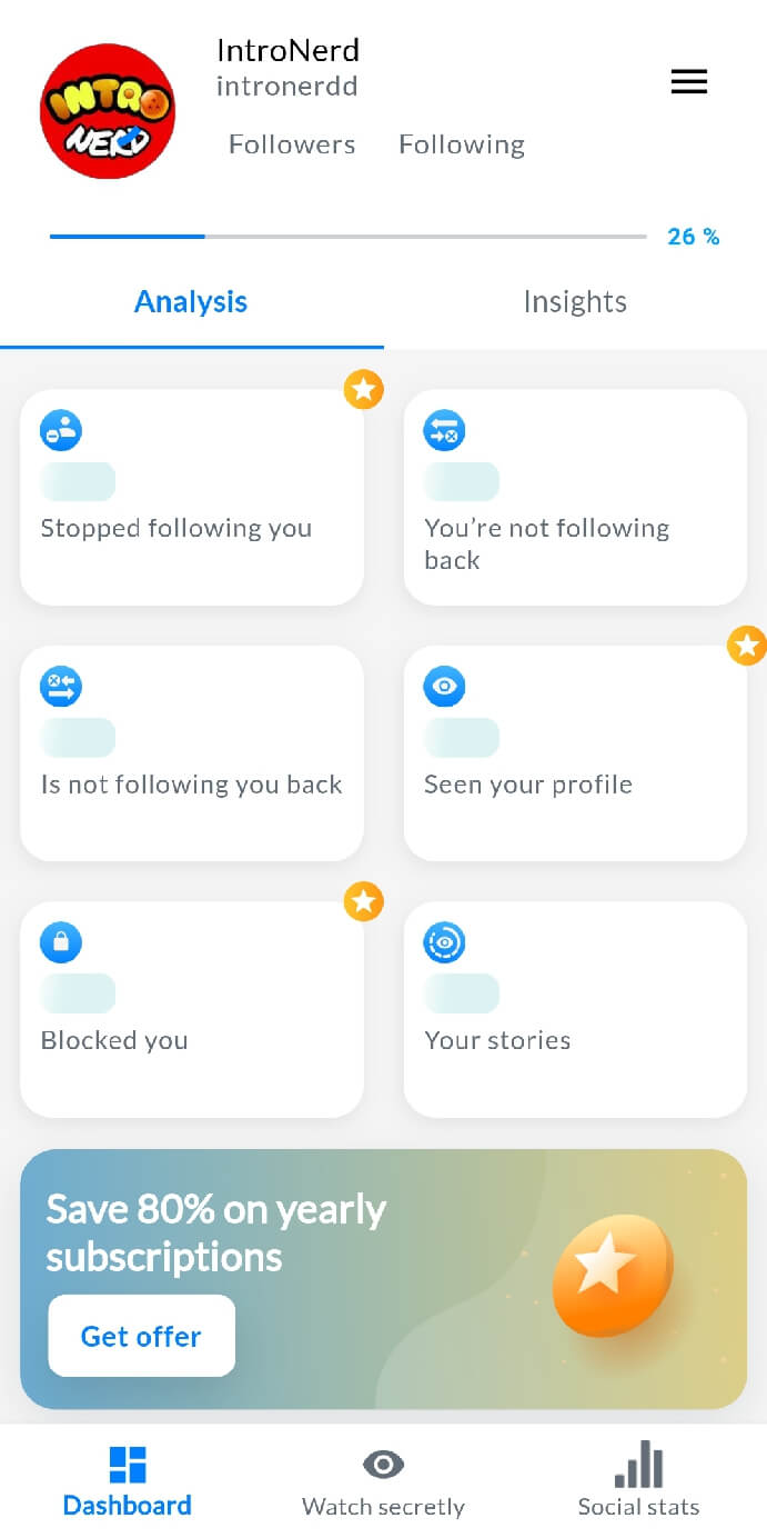 Gossipgram app for stalkers