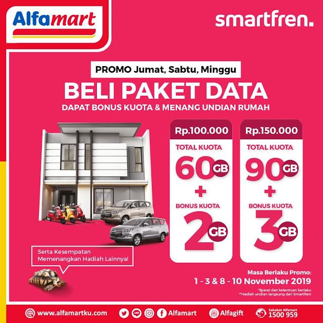 #Alfamart - #Promo Isi Smartfren Bonus Kuota & Hadiah Rumah Weekend (s.d 10 Nov 2019)