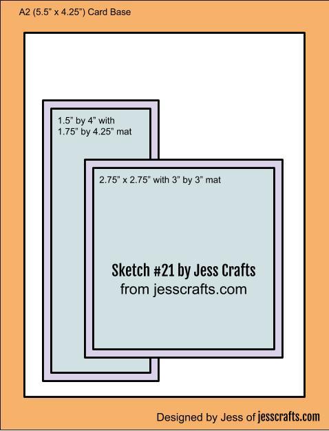 Card Sketch #21 by Jess Crafts