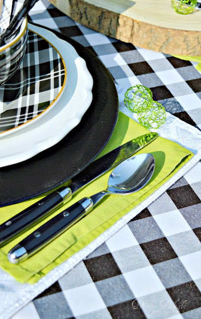 Dining Delight Green Apple Amp Buffalo Check Tablescape