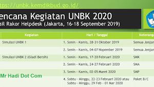Ini Jadwal Simulasi UNBK  Periode 1 dan 2 SMP/Mts,SMA/SMK Tahun 2020